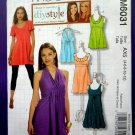 McCalls Pattern # 6031 UNCUT Misses Tunic Top Dress STRETCH KNITS ONLY Size 4 6 8 10 12