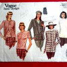 Vogue Pattern # 1041 UNCUT Misses Jacket Top Stretch Knits Only Size 8 10 12