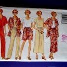 Butterick Pattern # 4507 UNCUT Misses Wardrobe Top Shirt Skirt Pants Size XS Small Medium