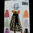 Butterick Pattern # 5041 UNCUT Misses Skirt Gathered Circle Size 16 18 20 22