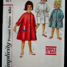 Vintage Simplicity Pattern # 4536 UNCUT Girls Robe Size 4
