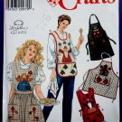 Simplicity Pattern # 7889 Craft Aprons 4 Apron Designs Size Small Medium Large