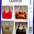 McCalls Pattern # 5945 UNCUT Lined Handbag Handbags Variations