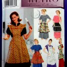 Simplicity Pattern # 8720 UNCUT Misses Vintage RETRO Apron Patterns 6 Aprons Size Small Medium Large