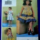 Vogue Pattern # 7068 UNCUT Girls Tiered Skirt Summer Dress Size 6 7 8