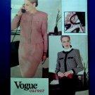 Vogue Pattern # 7316 UNCUT Misses Career Jacket Skirt Size 6 8 10 Vintage 1988