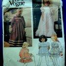 Little Vogue Pattern # 1272 UNCUT Girls Dress Size 4 Special Occasion