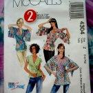 McCalls Pattern # 4304 UNCUT Misses Blouse Size Large XL