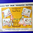 Vintage Embroidery Transfer Pattern OLD MEXICO Towel Ends Days of the Week # 927
