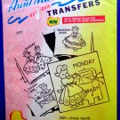Vintage Embroidery Transfer Pattern ~Dutch Days of the Week # 3021 Aunt Martha's