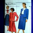 Butterick Pattern # 4018 UNCUT Misses Jacket Skirt Blouse Size 16 Evan-Picone