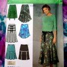 Simplicity Pattern # 4753 UNCUT Misses Skirt Variations Size 6 8 10 12