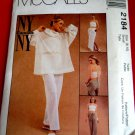 McCalls Pattern # 2184 UNCUT Misses Pullover Top Halter Pull-On Pants Skirt Size 8 10