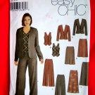 Simplicity Pattern # 5792 UNCUT Misses Wardrobe Jacket Pants Skirt Vest Size 12 14 16 18 20