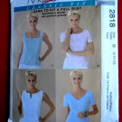 McCalls Pattern # 2818 UNCUT Misses Top Neck Variations Size 8 10 12