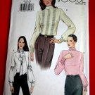 Vogue Pattern # 7604 UNCUT Misses Blouse Size 20 22 24
