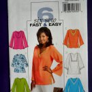 Butterick Pattern # 4684 UNCUT Misses Top / Tunic Size XS Small Medium