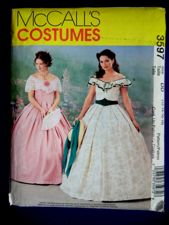 Mccalls Pattern 3597 Uncut Misses Costume Civil War