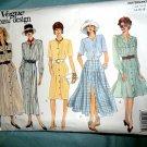 Vogue Basic Pattern # 1147 UNCUT Misses Dress Variations Size 14 16 18