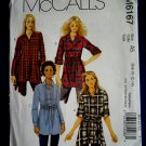 McCalls Pattern # 6167 UNCUT Misses Top /Tunic Sash Size 6 8 10 12 14