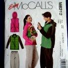 McCalls Pattern # 6212 UNCUT Misses Mens Fleece Vest Jacket Pants Dog Coat Size Large XL XXL