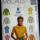 McCalls Pattern # 8722 UNCUT Misses Shirt Size 10 12 14