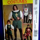 McCalls Pattern # 5500 UNCUT Men's Knight Prince Costume Size Small Medium Large XL