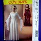 McCalls Pattern # P 362 / 4889 UNCUT Misses Costume Renaissance Dress Gown Size 16 18 20 22