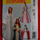 McCalls Pattern # 5731 UNCUT Toddler Girls Princess Gown Dress Costume Size 3  4 5 6 7 8