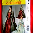 McCall's Pattern # 6097 Misses Costume Gown Renaissance Victorian Dress Size 14 16 18 20