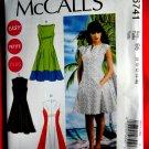 McCalls Pattern # 6741 UNCUT Misses Dress Size 8 10 12 14 16