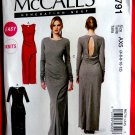 McCalls Pattern # 6791 UNCUT Misses KNIT Dress Evening Length Size 4 6 8 10 12