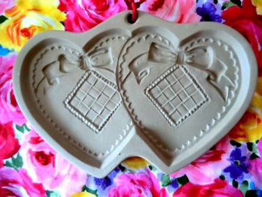 Brown Bag Hill Design Cookie Mold Double Hearts Vintage 1988
