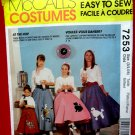 McCalls Pattern # 7253 UNCUT Girls Costume Poodle Pull-On Skirt and Petticoat  Size 3 / 4 5 /6