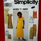 Simplicity Pattern # 8566 UNCUT Misses Dress Top Pants Shorts Size 12 14 16