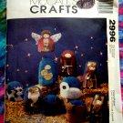 "McCalls Pattern # 2996 UNCUT Soft Nativity Scene 6"" Ornaments"