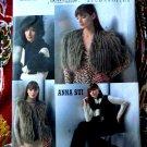 Vogue Pattern # 7950 UNCUT  Misses Anna Sui Accessories Jacket Vest Hat Mittens