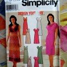Simplicity Pattern # 7156 UNCUT Misses Dress Neckline Variations Size 14 16 18 20