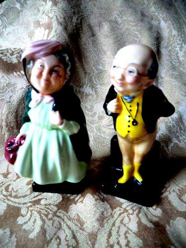 Royal Doulton Miniature Mr Pickwick & Sairey Gamp (Dickens Character) Vintage