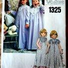 Vogue Pattern # 1325 UNCUT Girls Nightgown Robe Size 6