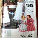 Vogue Pattern # 1545 UNCUT Girls Dress Pinafore Size 6
