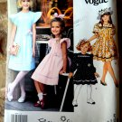 Vogue Pattern # 2860 UNCUT Girls Dress Sleeve Variation Size 4 5 6