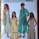 Butterick Pattern # 5045 UNCUT  Misses Cover-up Top Tunic Dress Pants Size XS Small Medium
