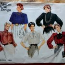 Vogue Pattern # 1581 UNCUT Misses Formal Blouse Size 10 ONLY Bust 32 1/2