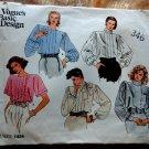 Vogue Pattern # 1424 Misses UNCUT Formal Blouse Size 10 ONLY Bust 32 1//2