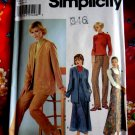 Simplicity Pattern # 9874 UNCUT Misses Cardigan Pants (Top STRETCH KNITS ONLY) Size 6 8 10 12