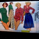 Vogue Pattern # 9709 UNCUT Misses Bodysuit (Stretch Knits Only) Wrap Skirt Size 10