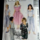 McCalls Pattern # 5340 UNCUT Girls Dress or Jumpsuit Two Lengths Size 7 8 10