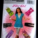 Butterick Pattern# 4970 UNCUT Girls Tunic Dress Sash Leggings STRETCH KNITS ONLY Size 7 8 10 12