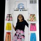 Butterick Pattern # 4507 UNCUT Girls Skirt Capri Pants Size 7 8 10